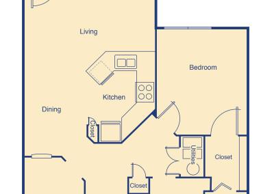 Lake Granby One Bed w Den Apartment senior housing Denver
