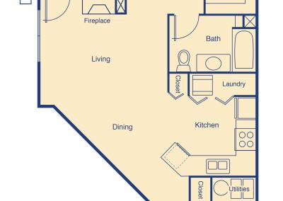 Sloans Lake II two bedroom patio home senior rental housing Denver
