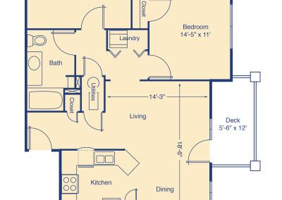 Marston Lake two bedroom patio home senior rental housing Denver