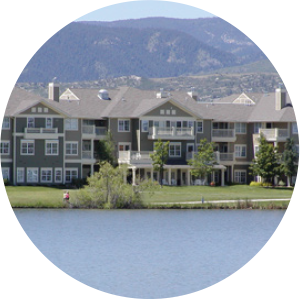 Apartments from across the lake