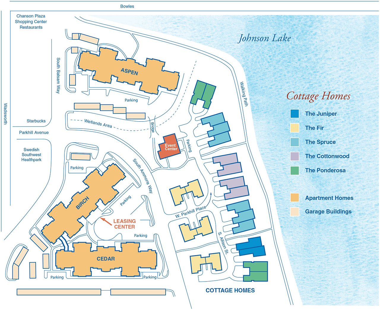 Our Community Concordia On The Lake - Johnson lake map